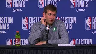 Brad Stevens Postgame Interview - Game 2 | Cavaliers vs Celtics | 2018 NBA East Finals