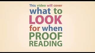 University of Sheffield - What to look for when proofreading