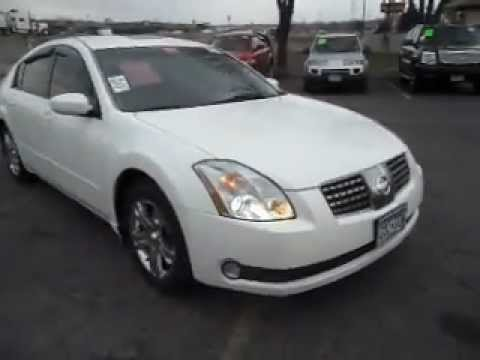 2005 Nissan Maxima SL 3.5 V6 Skyview Roof WHITE AND CLEAN ...