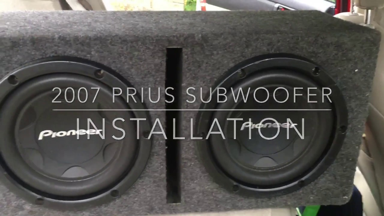 2007 Toyota Prius Subwoofer & Amp Install: How to Install Subwoofers
