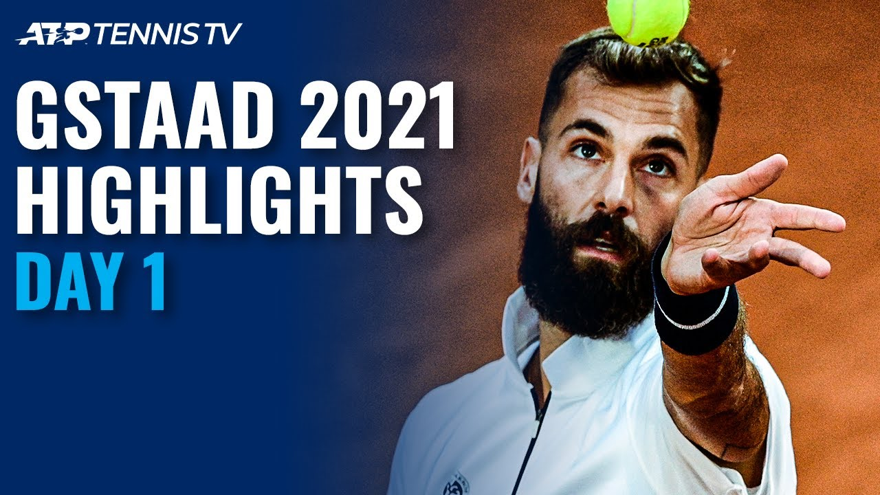 Download Paire Battles Kovalik; Lopez Takes on Huesler   Gstaad 2021 Highlights Day 1