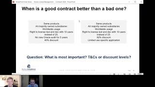 Oracle contract compliance review