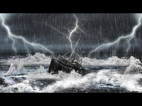 Photoshop Tutorial Manipulation  hard storm in the sea thumbnail