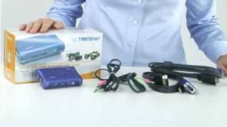 Spotlight: 2-Port USB KVM Switch Kit w/ Audio TK-209K TRENDnet TV