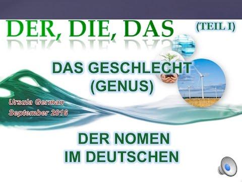 Das Genus der Nomen im Deutschen