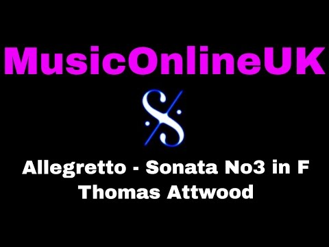 Allegretto - Thomas Attwood - ABRSM 2017 / 18 Grade 2 Piano A1 with TEACHING NOTES