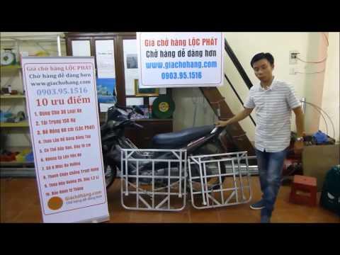 Giá Chở Hàng Xe Máy 10 ưu điểm Lộc Phát 0903951516 (giá đèo Hàng, Baga Chở Hàng)