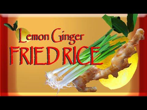 Lemon Ginger FRIED RICE Vegan Veggie