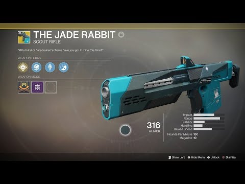 Destiny 2: The Jade Rabbit Exotic Scout Rifle (Drop and Short Showcase)