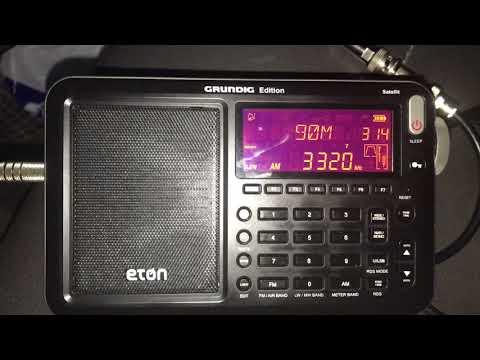 Radio Sonder Grense 3320 kHz, Meyerton, South Africa, copied in Rio Capim