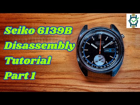 Seiko 6139 Service Tutorial Part 1 - Disassembly Of The Calendar Works