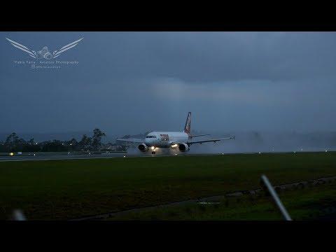 Operações Aéreas Em Tempestade No Aeroporto De Londrina