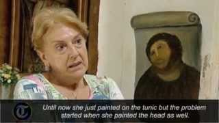 Spanish pensioner destroys fresco with botched restoration