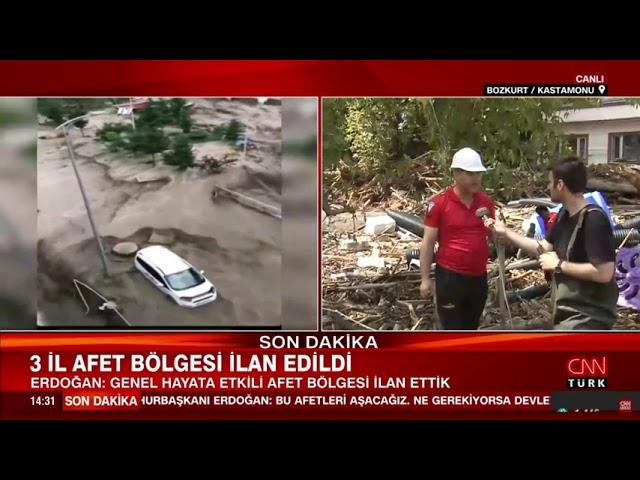 İtfaiye Müdürlüğümüz CNN Türk Canlı Yayınında
