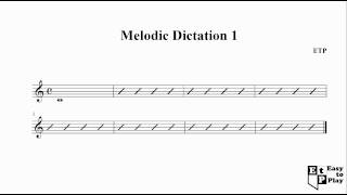 Melodic Dictation 1 - Ear Training Exercise C major 4/4