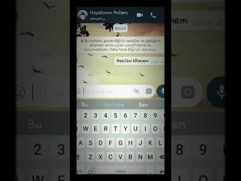 WhatsApp ayrılık mesajı 😢