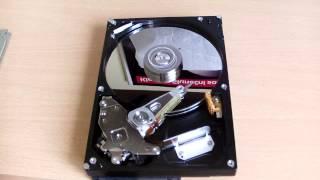Harddisk klape (inside a faulty hard drive)