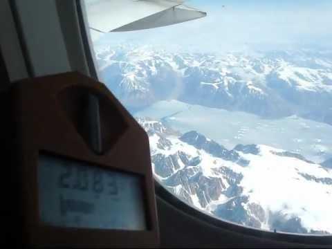 radiation exposure during an intercontinental flight