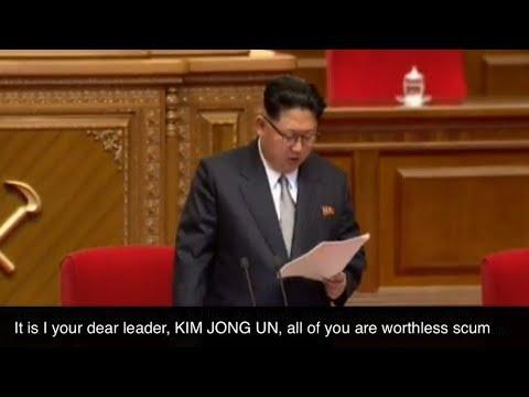 Watch KIM JONG UN'S tear jerking speech