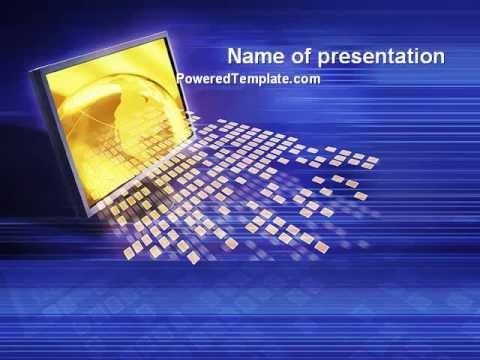 Globe Net PowerPoint Template by PoweredTemplate.com