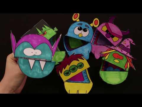 Halloween Hand Puppets