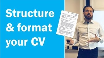 How to format and structure a CV [Get more interviews]