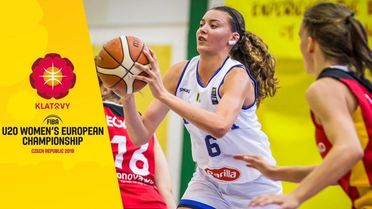 Italy v Germany - Full Game - FIBA U20 Women's European Championship 2019