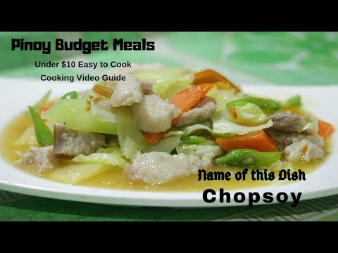 Chop Suey With Pork 5 Minutes Cooking Filipino Style Meal #2