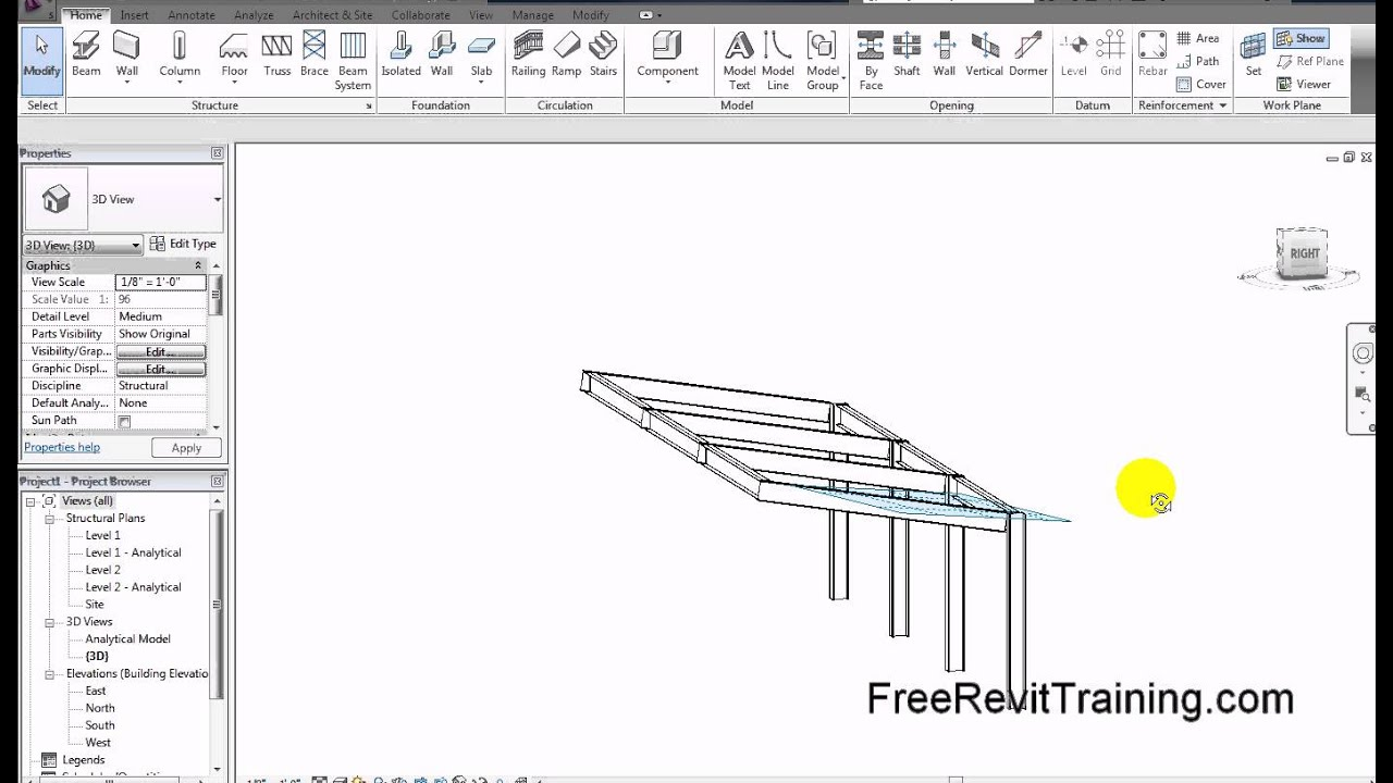 Revit Structure Amp Architecture Framing At An Angle