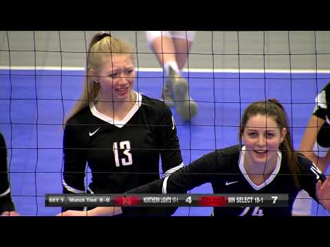 Girls High School Volleyball Club Northern Lights Vs Mn Select Championship Match Youtube