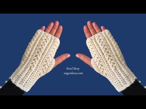 DIY Tutorial - Easy Crochet Fingerless Gloves