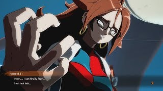 DRAGON BALL FIGHTERZ Android 21 Almost Eats Krillin