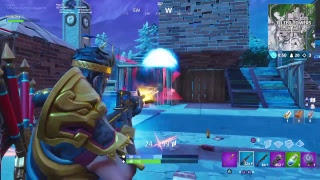 LIVE Gameplay with *Krampus* Skin | Fortnite Battle Royale