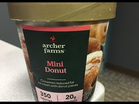 Archer Farms Mini Donut Protein Ice Cream Review Target