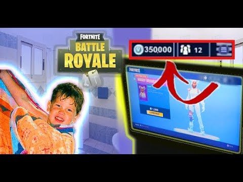 I secretly bought my little brother more Fortnite VBucks while he was showering...((Crazy Reaction))
