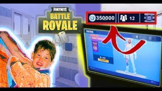 I secretly bought my little brother more Fortnite VBucks while he was showering... ((Crazy Reaction))