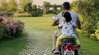 MS Dhoni Rides Bike With Ziva On His House During Lockdown | MS Dhoni Video