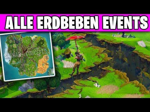 🏔️💥 Die Karte ZERREIßT + Alle Erdbeben LIVE EVENTS | Fortnite Season 8 Deutsch