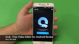 Quik: Free Video Editor for Android Review(Here is Quik, a free video editor app for Android devices. It's also on iOS. This application is made by GoPro. But it work with videos made on any device., 2016-05-15T22:26:22.000Z)
