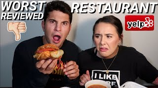 EATING AT THE WORST REVIEWED RESTAURANT IN OUR CITY!