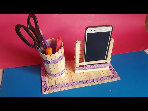 Art And Craft Ideas | How To Make Pop Stick And IceCream Stick Miniature Show Peace.