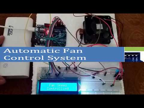 Arduino Projects with Code of Automatic Fan Speed Controller using Arduino  in Hindi language