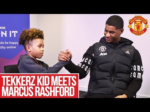 Tekkerz Kid meets Marcus Rashford! | Manchester United