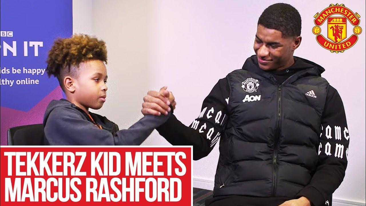 Tekkerz Kid Meets Marcus Rashford Manchester United Youtube