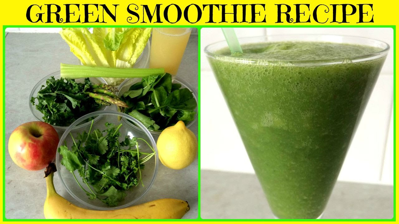 Super Green Smoothie For Glowing Skin Weight Loss Detox