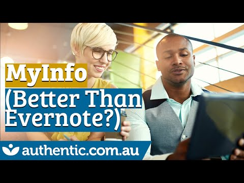 MyInfo Personal Information Manager (Better Than Evernote)