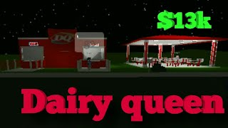 ROBLOX Welcome To Bloxburg| Dairy Queen (DQ) Speed Build| $13k