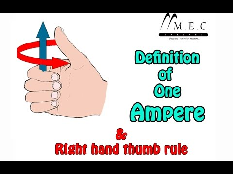 What is One Ampere & Right Hand Thumb Rule