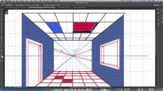 1 point interior perspective drawing in photoshop part02