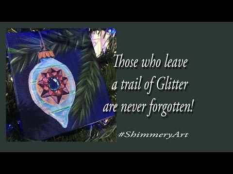 DoodleGem #ShimmeryArt Ornament Acrylic Painting Tutorial